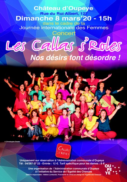 """Agenda - Affiche du spectacle """"Les Callas s'Roles : nos désirs font désordre !"""""""