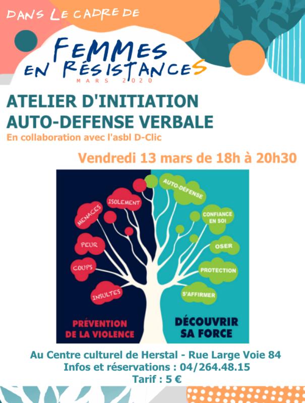 Agenda - Atelier d'initiation auto-défense verbale